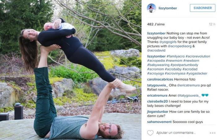 yoga avec bebe dans les bras