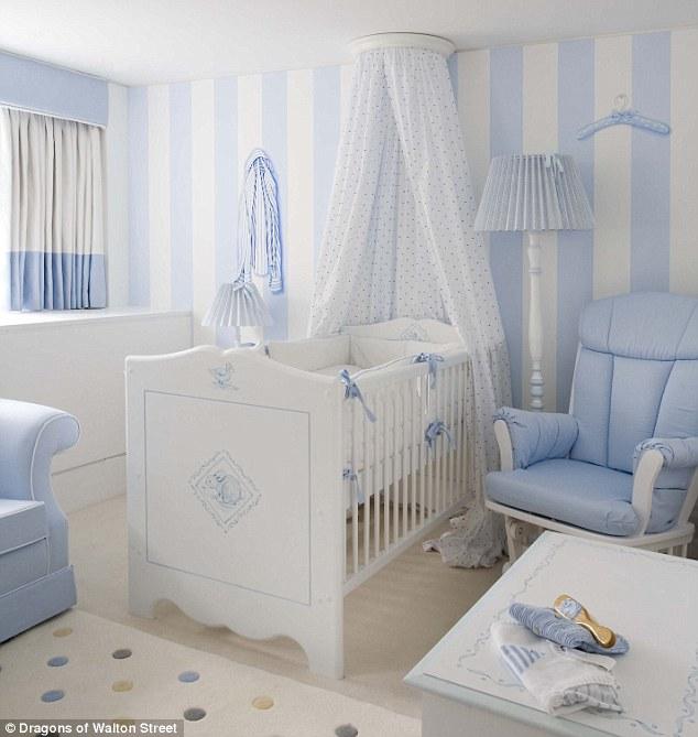 chambre toute douce bleu et blanc