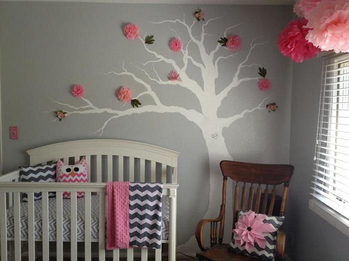 5 idées de chambres pour bébés qui voient la vie en rose et gris ...