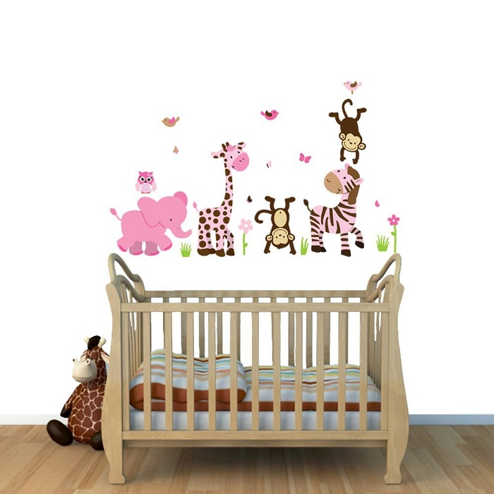 chambre bebe stickers animaux