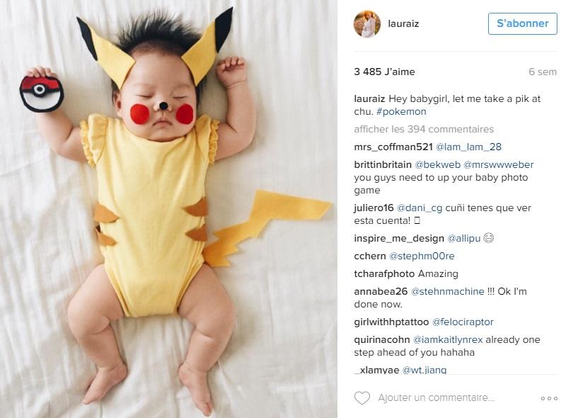Laura-Izumikawa-Choi-deguise-fille-personnages-pendant-sieste-pikachu