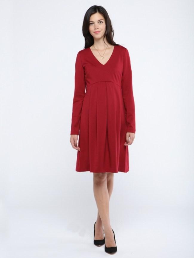 shopping rouge robe de grossesse