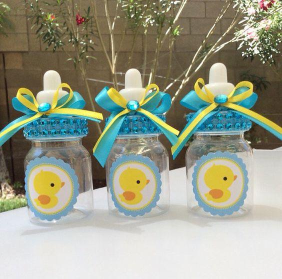 baby shower-canards-neuf mois-biberon