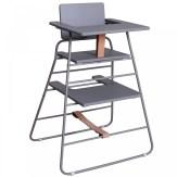 chaise haute en gris