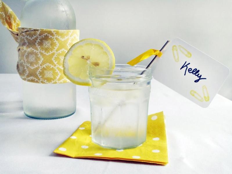 baby shower printanière-citronnade