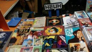 Productos NEUH en un stand de Fandogamia