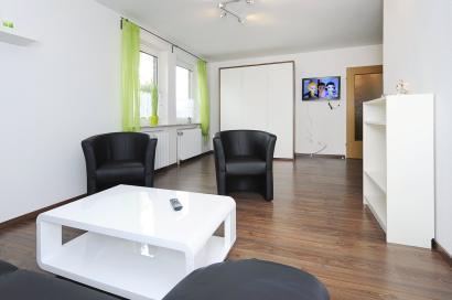 Wohnzimmer der Ferienwohnung Lulu Meinders