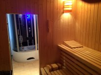 Dusche und Sauna