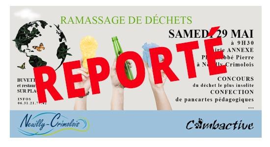 Read more about the article Reporté : Ramassage des déchets du 29 mai.