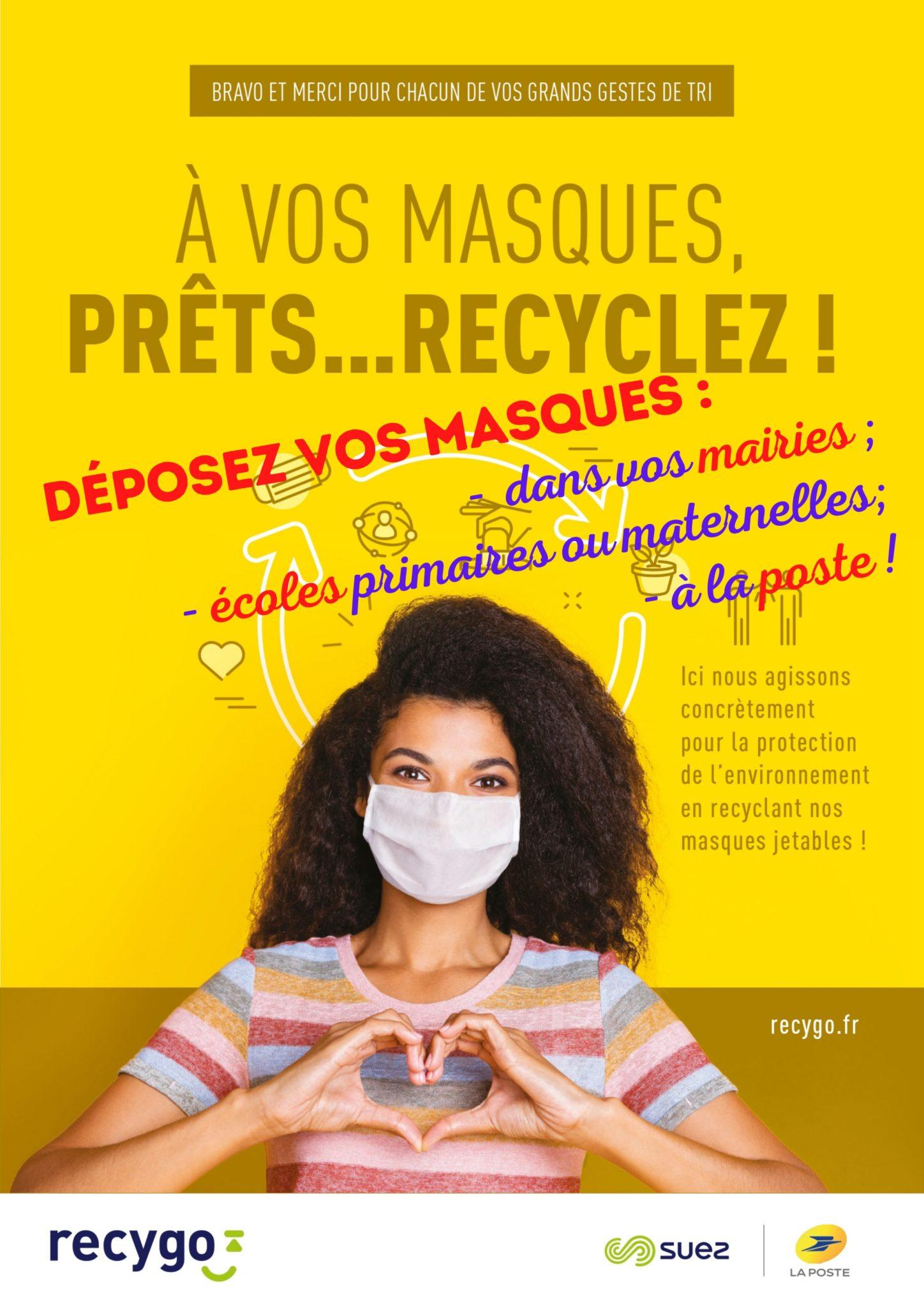 Read more about the article Protégez-vous en protégeant la planète : ne jetez plus vos masques… recyclez-les !