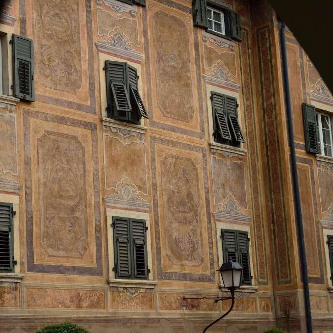 Einzigartige Fassaden / facciata con affreschi