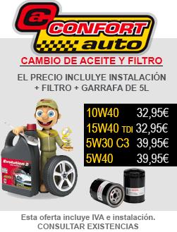 Oferta Aceite Confortauto más Filtro