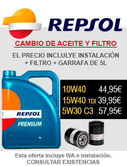 Oferta Aceite Repsol más Filtro