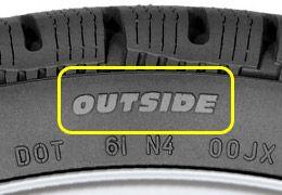 Neumático asimétrico outside