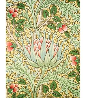 Morris and Co: artichoke wallpaper