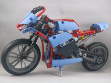 Lego Technic #42036 Street Motorcycle Completed Side View
