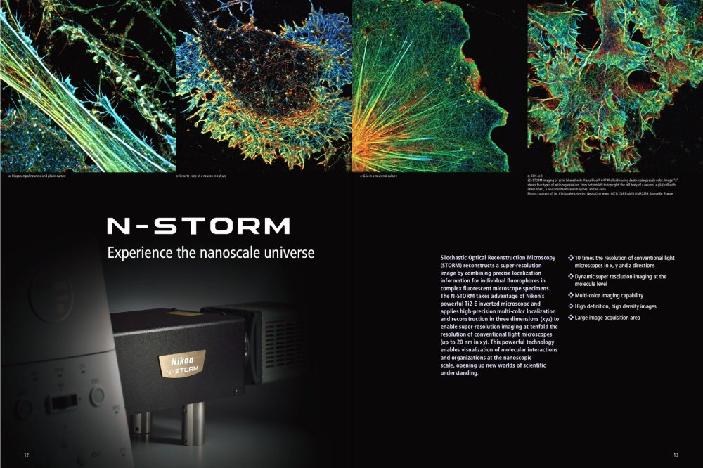 Nikon N-STORM brochure featuring our images