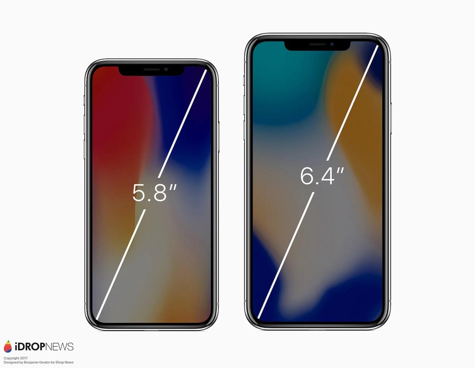 来年2018年は6.4インチの「iPhone X Plus」が登場する?