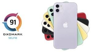 iPhone 11のフロントカメラ、DxOMarkの評価でトップ10圏外に。