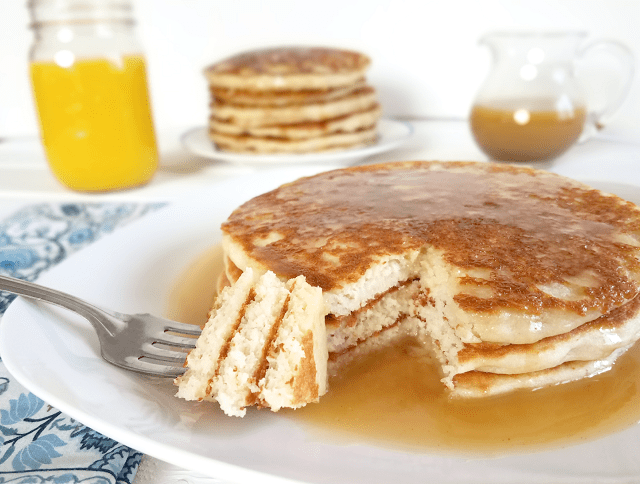 These pancakes are a more nutritious, allergy-friendly, and reduced-sugar option for National Pancake Day