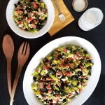 This Chopped Italian Kale Salad with Creamy Italian Dressing is so good you won't believe it's so good for you! It's simple enough to be a complete meal, yet classy enough for a picnic. Gluten-free, dairy-free, tomato-free, low-carb, keto, and Paleo.
