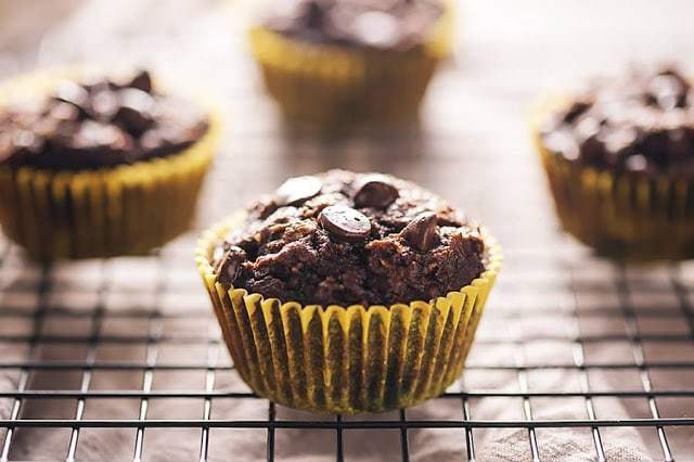 Chocolate Zucchini Muffins by Low Carb with Jennifer
