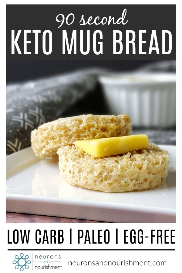Pinterest Pin for keto mug bread
