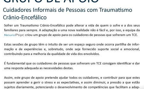 GRUPO DE APOIO | Cuidadores Informais de Pessoas com Traumatismo Crânio-Encefálico