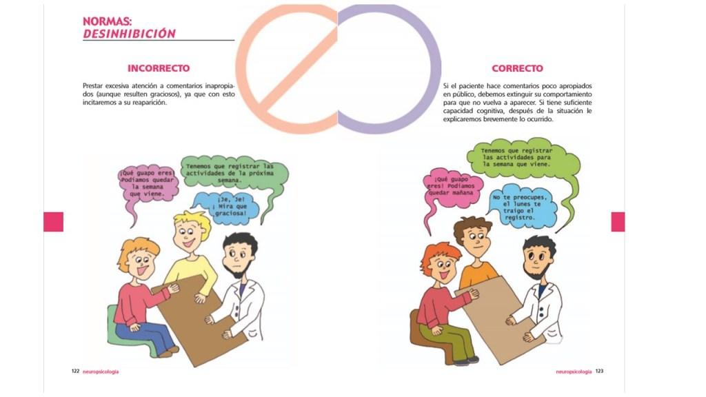 Normas para la deshinibición de la guía para familiares de personas con DCA del Servicio de Neurorehabilitación de Hospitales Nisa