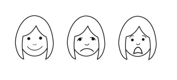 Imagen que muestra una ilustración con tres rostros del método perfetti