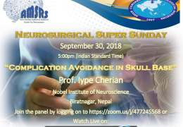 """Iype Cherian presentation recorded last Sunday on  """"Complication Avoidance in Skull Base"""" with Panel Discussion"""