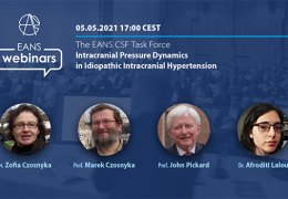 "NOW, LIVE, EANS Webcast LIVE, ""Intracranial Pressure Dynamics in Idiopathic Hypertension"""