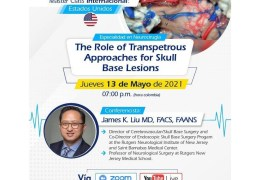 """NOW, LIVE….. James Liu MD, of Rutgers presenting, """"The Role of Transpetrous Approaches for Skull Base Lesions"""""""