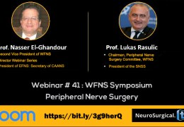 """NOW LIVE, LIVE, WFNS presents Webinar #41: """"Peripheral Nerve Surgery"""""""