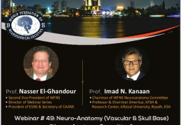 """Friday, 2 pm Cairo time, WFNS/CAANS Collaboration, """"Neuroanatomy: Vascular and Skull Base"""" LIVE"""