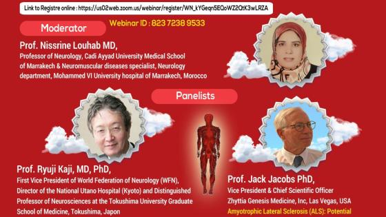 """Friday, 6 pm Morocco time, """"ALS: Present and Future Diagnostic and Therapeutics Methods"""""""