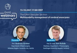 """RECORDED LIVE, on October 13, 2021EANS Online presents """"Multimodality Management of Cerebral Aneuryms"""""""