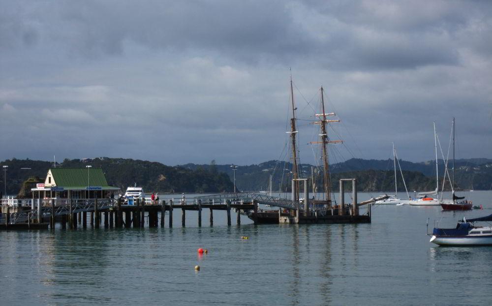 Der Hafen von Russell