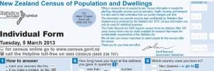 Vordruck zum Zensus