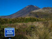 Start des Weges - im Hintergrund ist der Mount Ngauruhoezu sehen