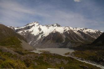 Berg- und Eismassiv bei Mount Cook