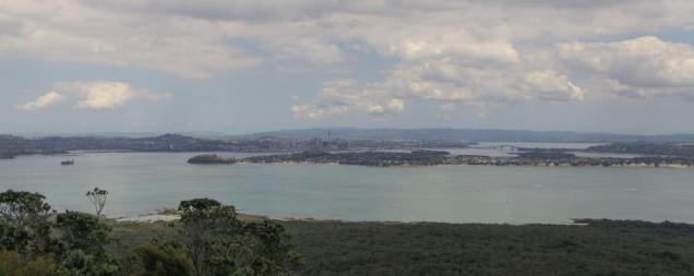 Blick von Rangitoto auf den Hauraki Golf