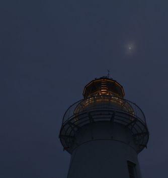 Der Leuchtturm gegen 5 Uhr morgens am East-Cape