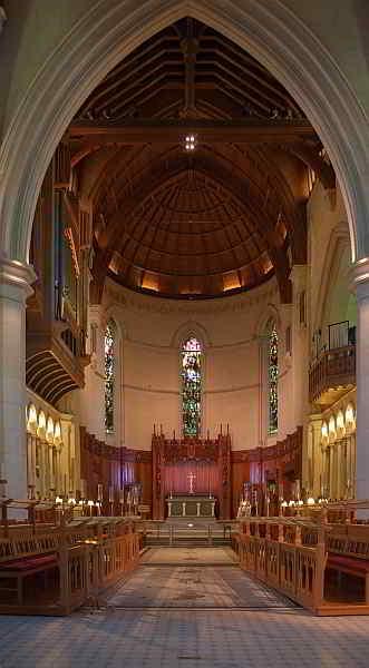 Der Chor der Kathedrale von Christchurch
