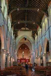 Das zerstörte Innere der Kathedrale von Christchurch
