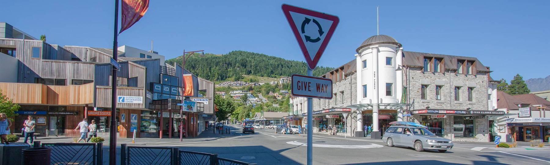 Kreisverkehr auf Neuseeland