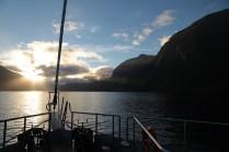 Sonnenaufgang im Doubtful Sound