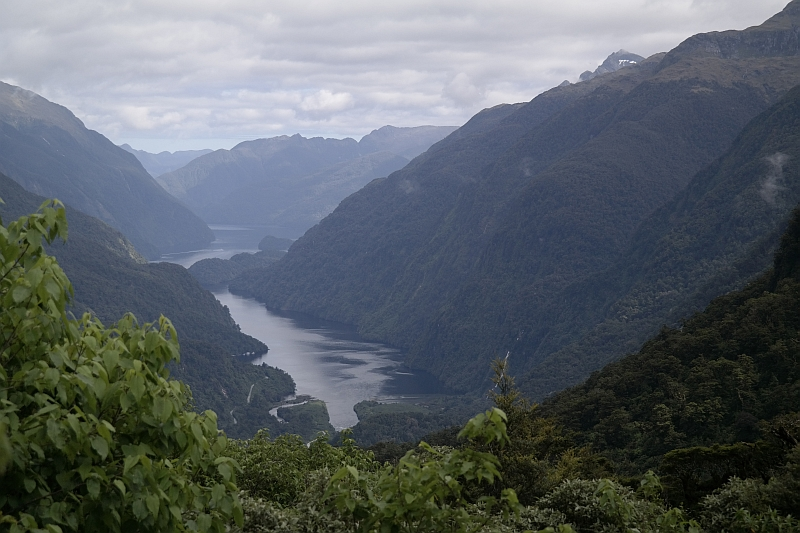 Blick vom Wilmot Pass in den Doubtful Sound
