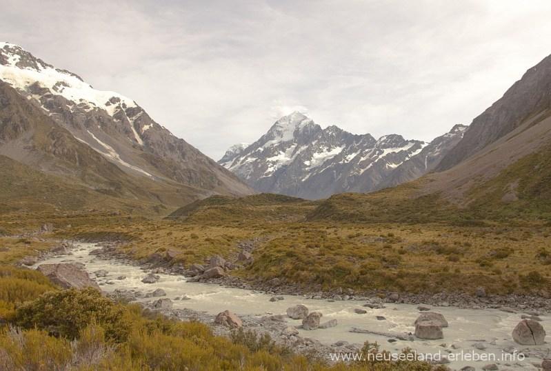 Mount Cook und Hooker River