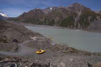 Tasman Lake und Highspeed-Boote für Touristen